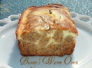 Banana Cream Cheese Bread