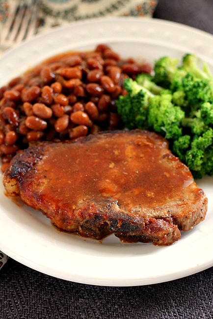 Pork Chops with Beans