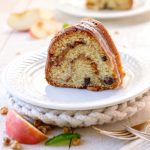 Old Fashioned Sour Cream Cake With Apple - Nut Filling