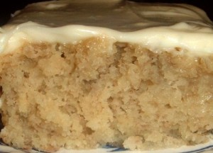 Banana Cake With Cream Cheese Frostng