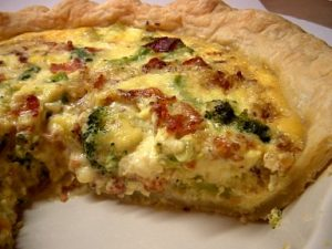Bacon, Broccoli and Onion Quiche