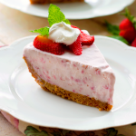 Frozen Strawberry Cream Pie