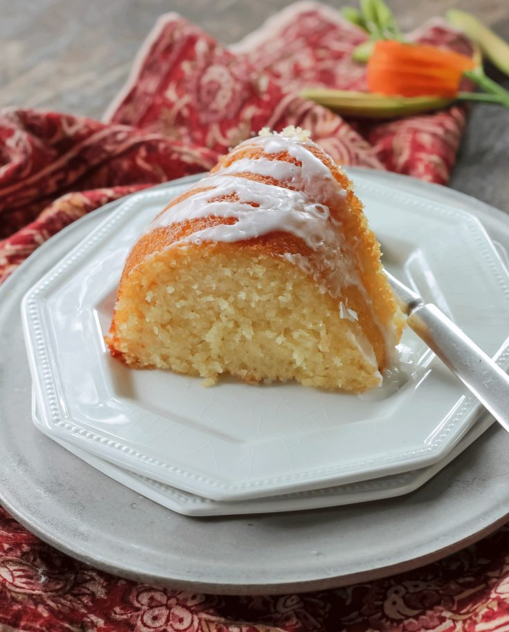 Glazed Lemon Ricotta Cake