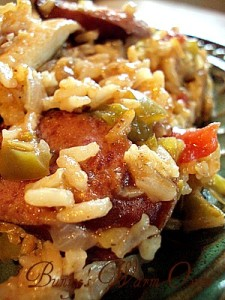 Chicken Sausage and Pepper Rice