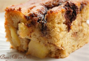 Yogurt Apple Cake with a Cinnamon Streak - Bunny's Warm Oven