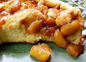 Souffle Pancake with Caramelized Apples