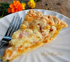 Incredible Peaches and Cream Pie