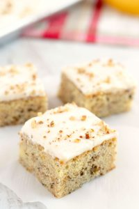 Banana Walnut Bars with Cream Cheese Frosting