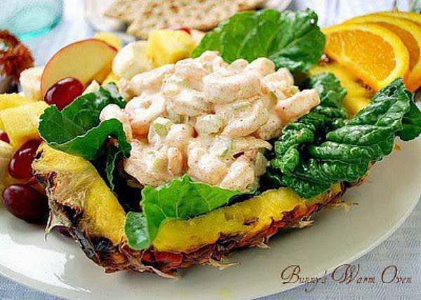 Shrimp Salad with fall Fruit