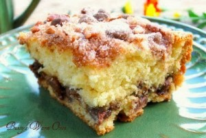 Chocolate Chip Cinnamon Pecan Coffee Cake