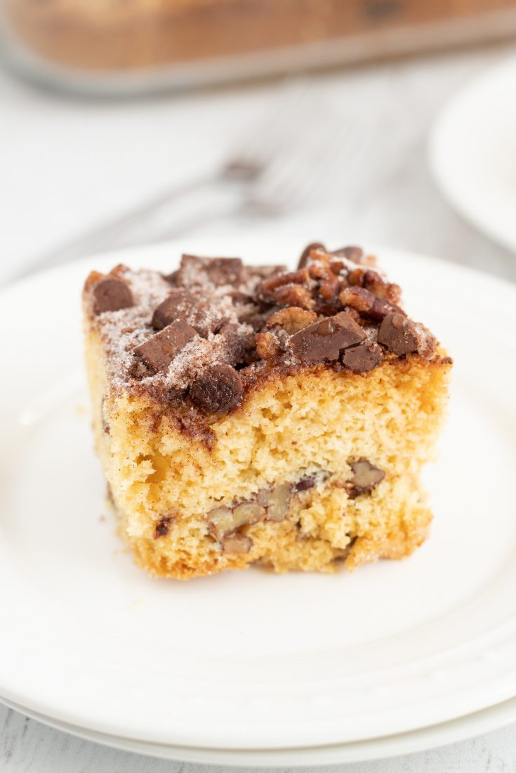 Chocolate Chip Cinnamon Pecan Coffee Cake