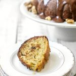 Banana Walnut Cake with Chocolate Glaze