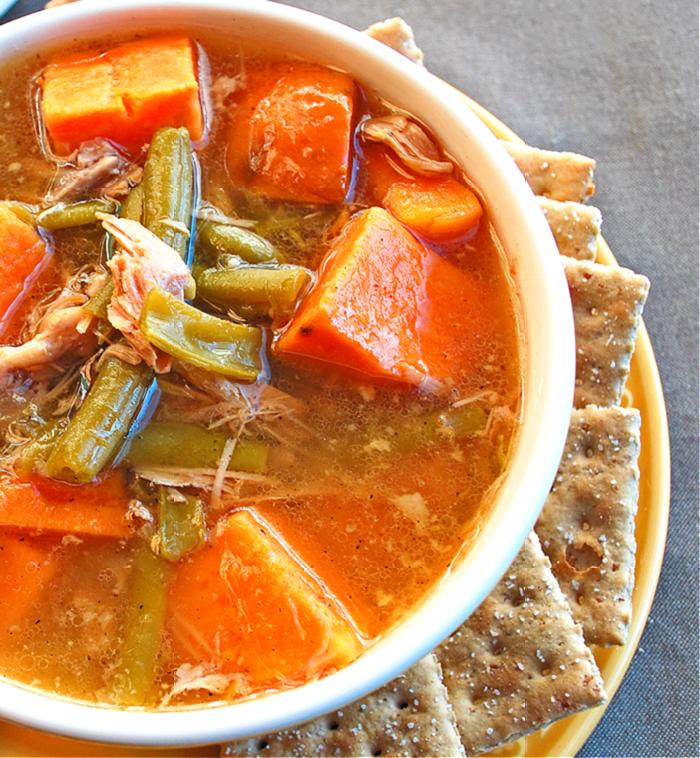 Homemade Sweet Potato Green Bean Soup
