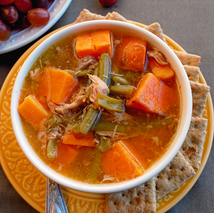 Turkey Sweet Potato Green Bean Soup