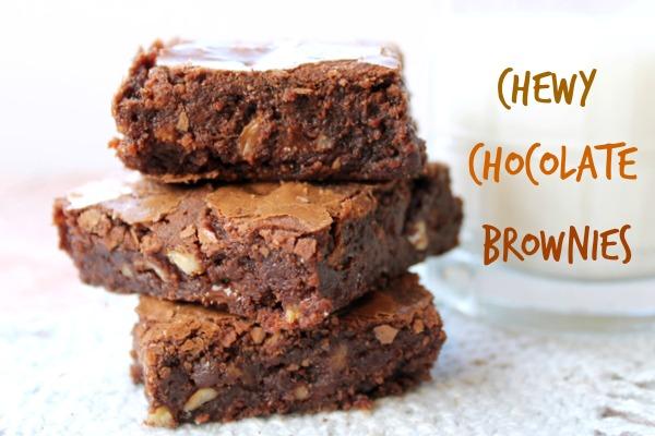 chewy brownie recipe