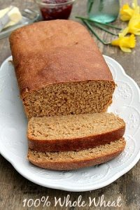 A Delicious Soft 100% Whole Wheat Bread