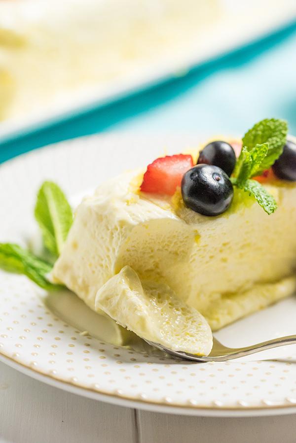 Lemon SemiFreddo with Blueberries