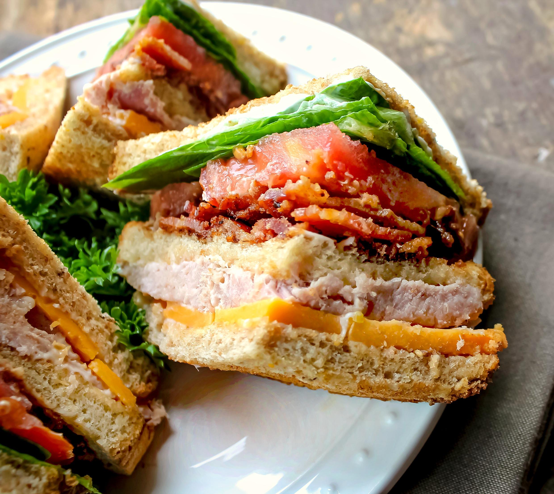 Ham and Cheese Club Sandwich (How to make a Club)