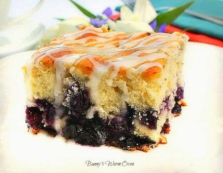 Blueberry Cake with Lemon Glaze