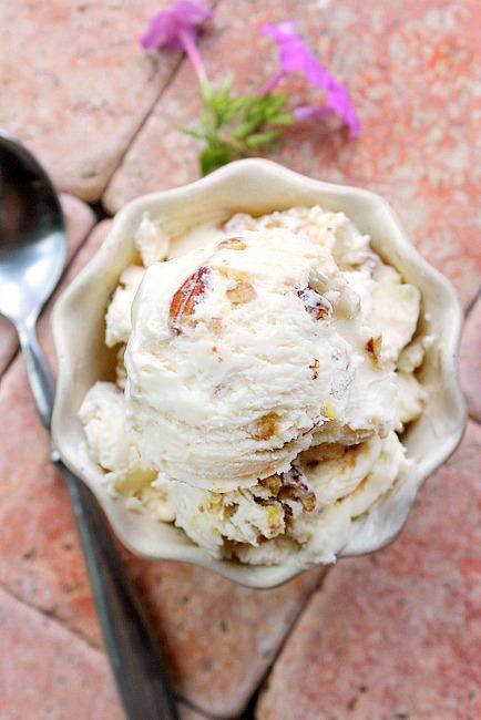 Butter Pecan 2 Ingredient Ice cream