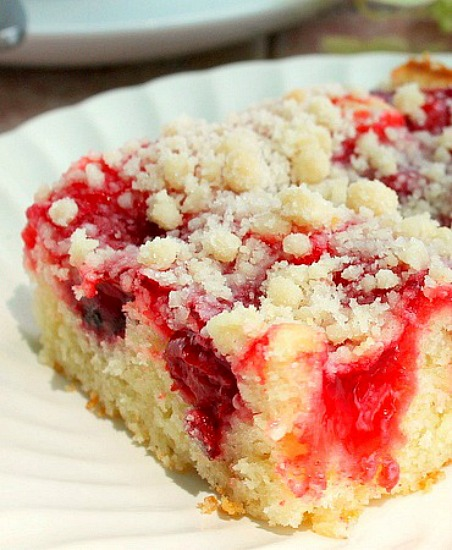 Cherry Filled Coffee Cake Recipe