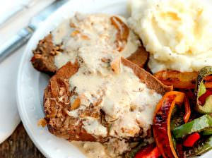 Crock Pot Roast Beef with Sour Cream Gravy