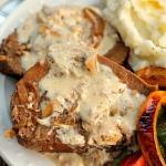 Crock Pot beef Roast with Sour Cream Gravy