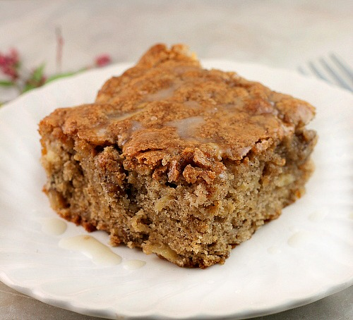 Apple Walnut Cake with Vanilla Glaze - Bunny's Warm Oven