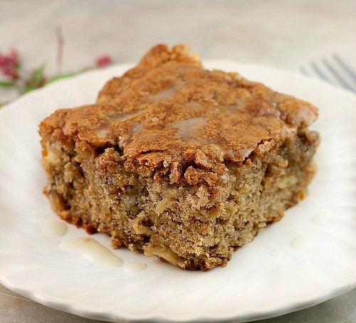 Apple Walnut Cake with Vanilla Glaze - Bunny's Warm Oven