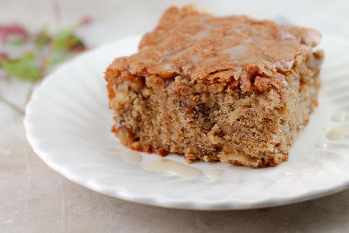 Apple Walnut Cake with Vanilla Glaze