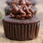 Homemade Chocolate Cupcakes with Frosting