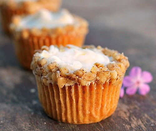 Carrot Pineapple Cupcake