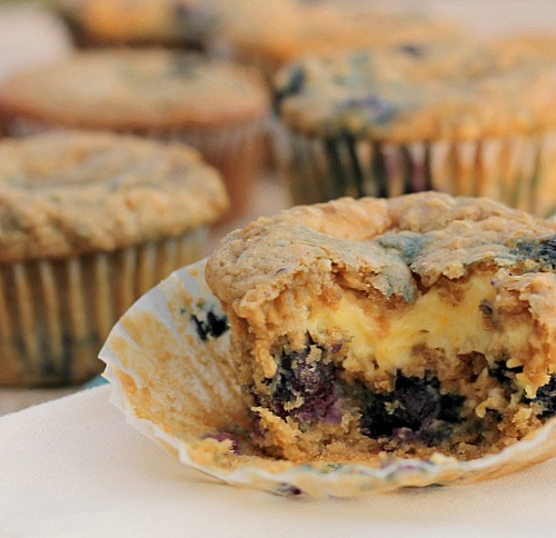 Oatmeal Blueberry Cream Cheese Muffins