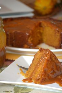 Guest Post from Platter Talk…Slow Cooker Sticky Caramel Pumpkin Cake