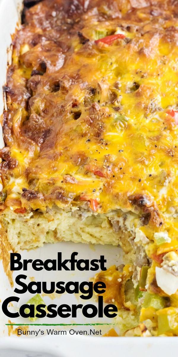 sausage egg cheese casserole