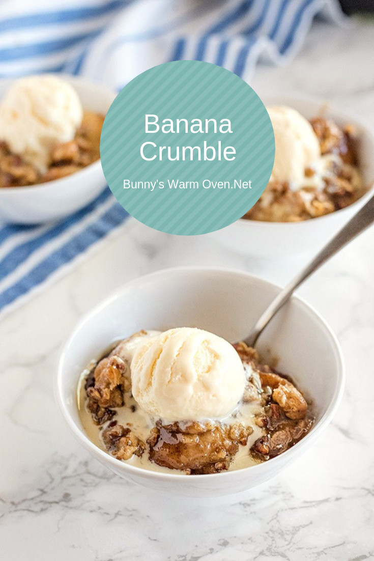 Banana Crumble via @BunnysWarmOven