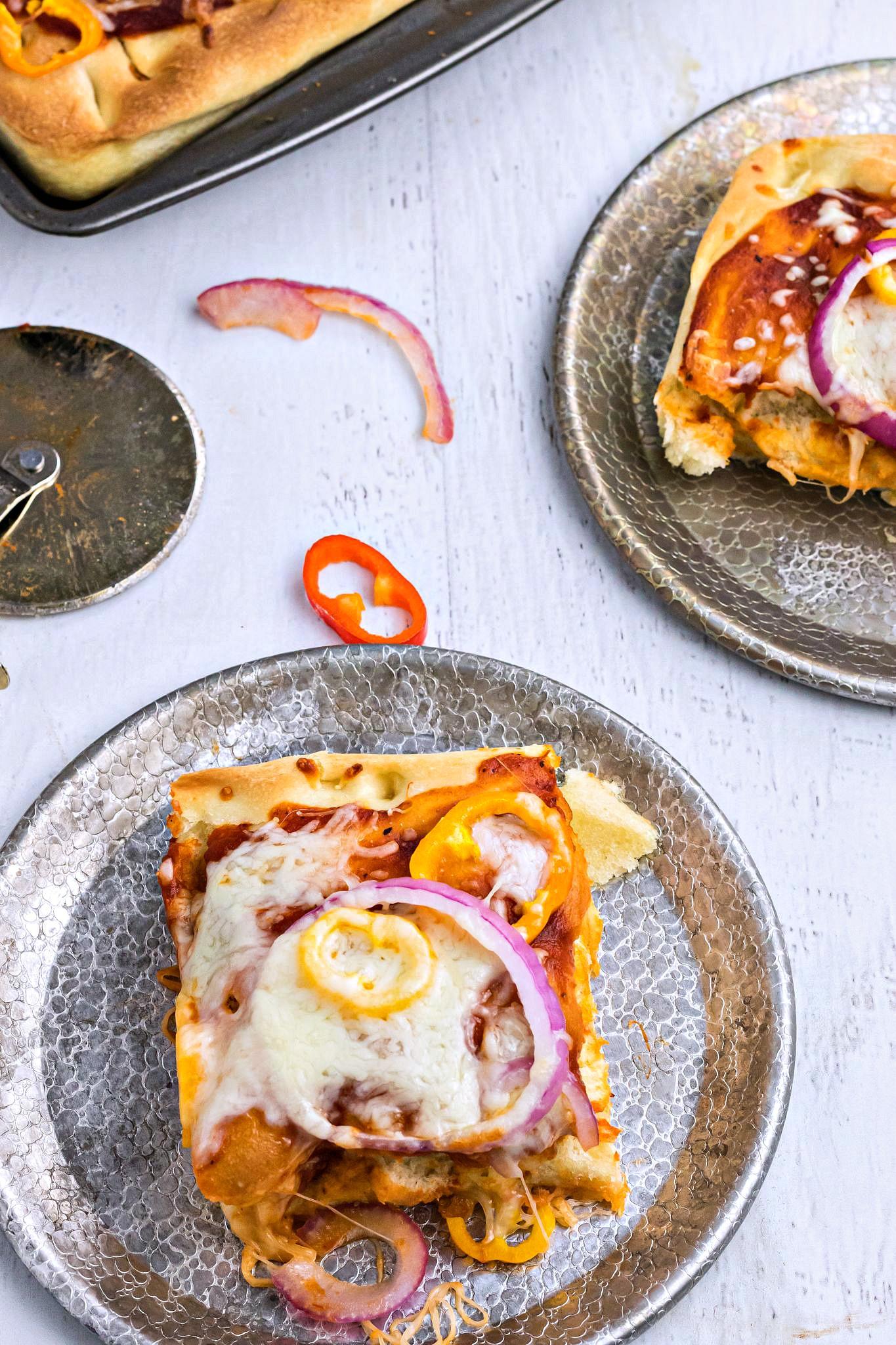 Homemade Focaccia Pizza