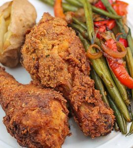 Oven Fried Buttermilk Chicken