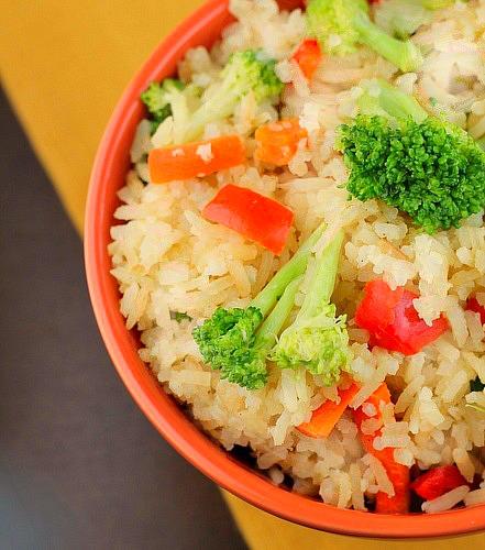 Crock Pot Chicken Flavored Rice and Veggies