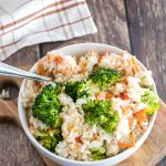 Crock Pot Chicken Flavored Rice and Veggies