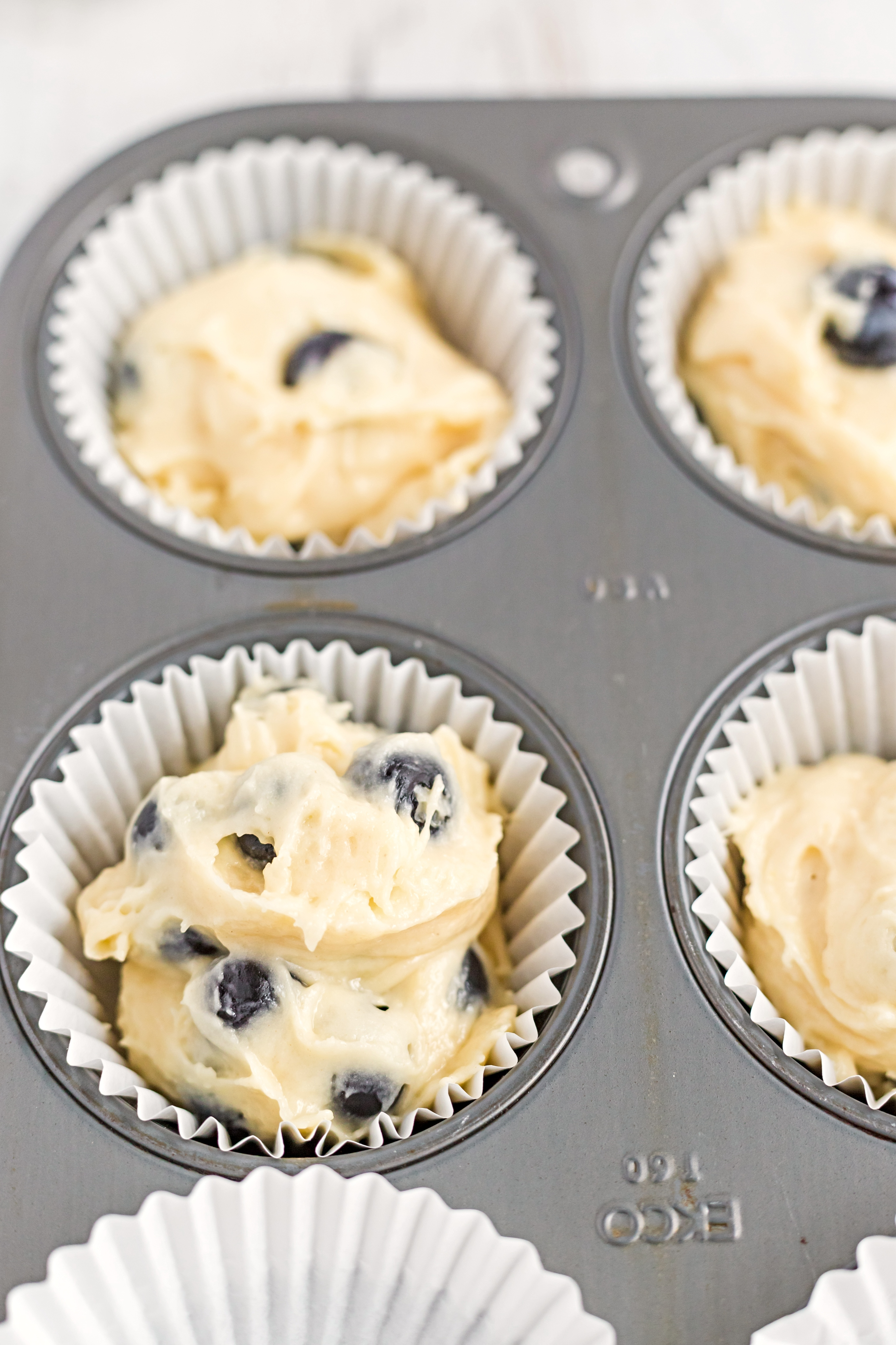 Blueberry Muffins with Lemon Glaze