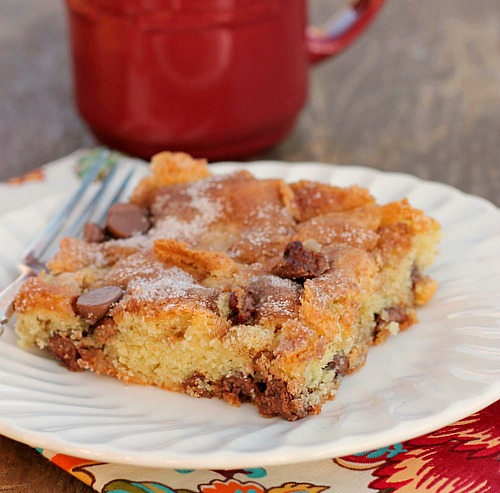 Chocolate Chip Sour Cream Cake - Bunny's Warm Oven