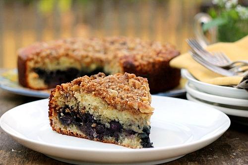 Blueberry Walnut Coffee Cake