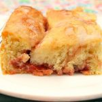 Glazed Cherry Yeast Coffee Cake