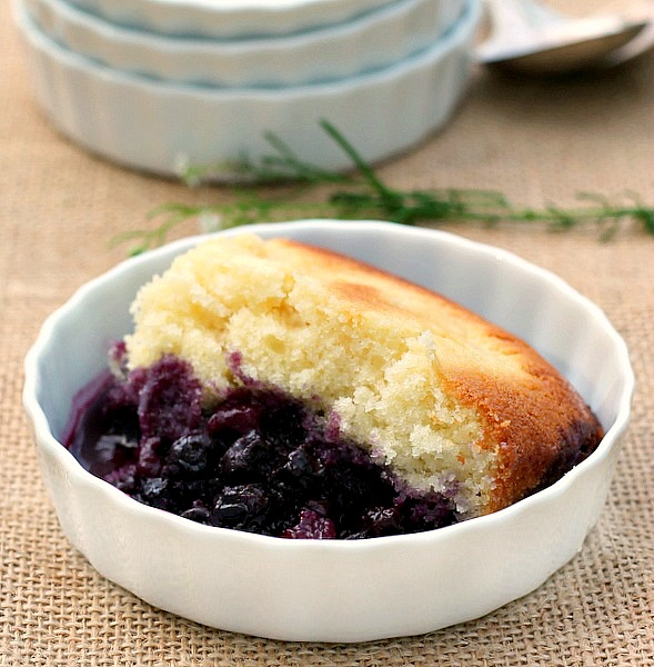 Lemon Blueberry Pudding Cake