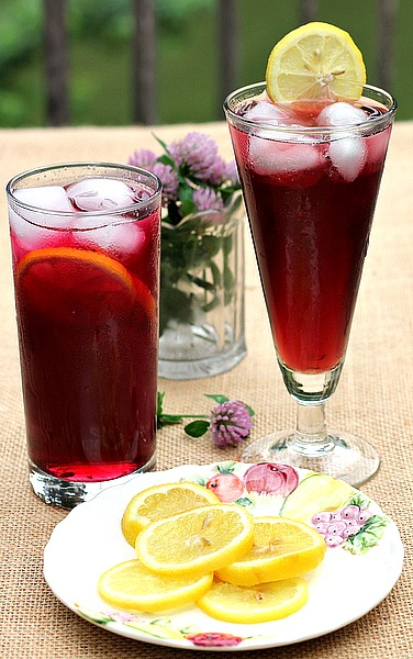 Homemade Blueberry Drink Syrup