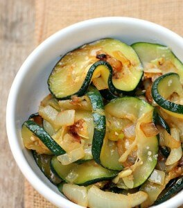 Zucchini with Onion and Garlic
