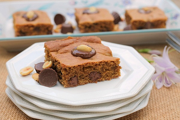 Peanut Butter Chocolate Stuffed Brownie