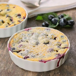 Blueberry Lemon Clafoutis