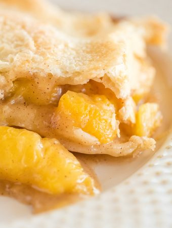 Double Crusted Peach Cobbler